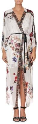 Camilla Fairy Floral Silk Kimono