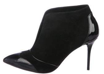 Alexander McQueen Suede Pointed-Toe Ankle Boots