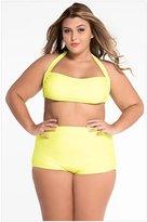 Dinamon Womens Plus Size Two Piece High Waist Bikini Swimsuit XXL