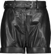IRO Indig belted leather shorts