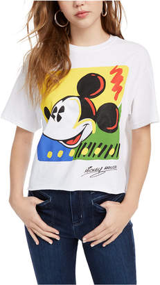 Disney Juniors' Cotton Mickey Mouse Graphic-Print T-Shirt