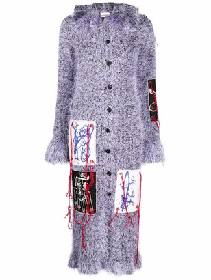 Charles Jeffrey Loverboy Multi Patches Long Cardigan