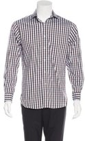 Michael Kors Gingham Print Dress Shirt