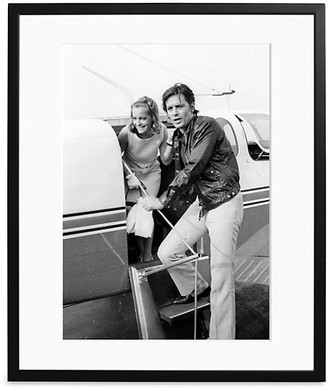 Sonic Editions Large Alain Delon & Romy Schneider At Nice Airport Art Print