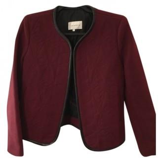 Sandro Burgundy Wool Jackets