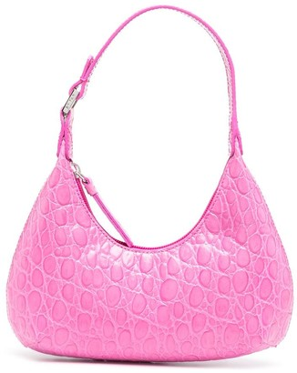 BY FAR Amber baby crocodile effect tote
