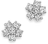 KC Designs 14K White Gold Diamond Floral Cluster Stud Earrings