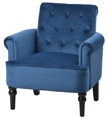 Thumbnail for your product : Alcott Hill Wike 29'' Wide Tufted Velvet Armchair Fabric: Rosewood Velvet