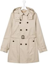 Burberry hooded trench coat - kids - Cotton/Polyester - 14 yrs
