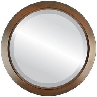 "The Oval And Round Mirror Store Regatta Framed Round Mirror in Mocha, 16""x16"""