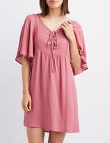 Charlotte Russe Lace-Up Shift Dress