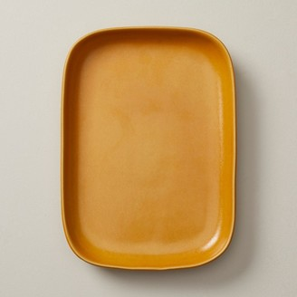 Oui Organic Stoneware Serving Tray Golden Yellow Medium