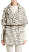 Fabiana Filippi Women's Houndstooth Belted Cape