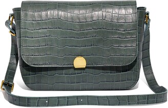 Madewell The Abroad Shoulder Bag: Croc Embossed Leather Edition