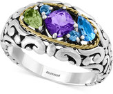 Effy Multi-Stone Ring (1-1/4 ct. t.w.) in Sterling Silver and 18k Gold