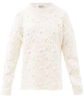Johnstons of Elgin Arabella Open-knit Cashmere Sweater - Ivory