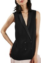 Topshop Women's Sleeveless Double Breasted Slouch Jacket