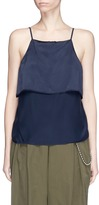Alexander Wang Front overlay silk satin camisole