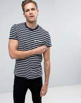 Jack Wills Camberwell Pocket T-Shirt Stripe Logo Slim Fit in Navy