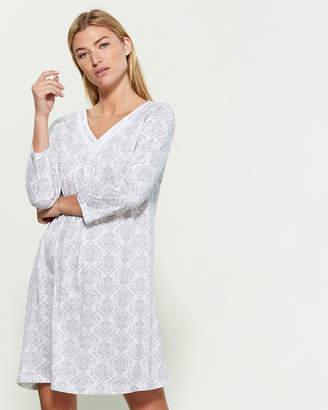 Carole Hochman Three-Quarter Sleeve Printed Short Nightgown