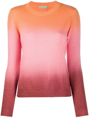 Etro fine knit colour blocked jumper