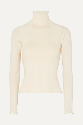 Margaux The Line By K Open-back Stretch-jersey Top - Cream