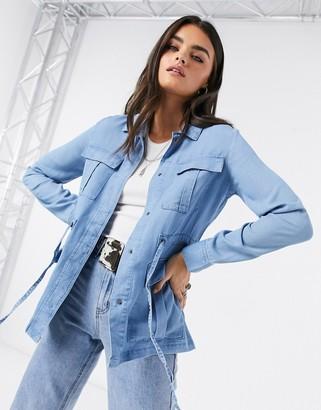 Vero Moda denim utility jacket in blue