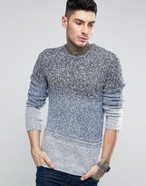 Asos Cobra Ombre Crew Neck Sweater