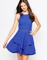Adelyn Rae Layered Skater Dress