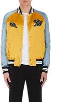 Valentino Men's Appliquéd Satin Souvenir Jacket