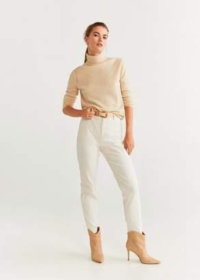 MANGO Cotton corduroy pants brown - 2 - Women