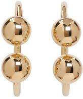 J.W.Anderson Gold Double Ball Hoop Earrings