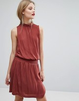 Gestuz Waisted High Neck Dress