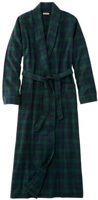 L.L. Bean Women's Scotch Plaid Flannel Robe