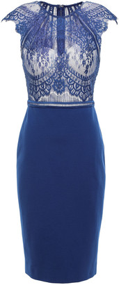 Catherine Deane Chantilly Lace And Ponte Dress