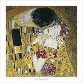 Gustav 1art1 Posters Klimt Poster Art Print - The Kiss, 1908 (28 x 28 inches)
