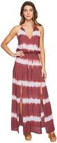 Culture Phit Emmalee Tie-Dye Maxi Dress with Slit Women's Dress