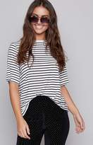 The Fifth Label The Fifth Shine By T-Shirt Black White Stripe
