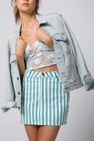 Motel Rocks Striped Mini Skirt