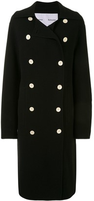 Proenza Schouler White Label Double-Faced Double-Breasted Long Coat