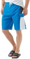 Kangaroo Poo Mens Panelled Board Shorts Turquoise
