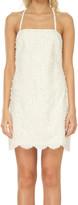 Max Studio Embroidered Cotton Voile Dress