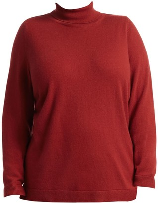 Lafayette 148 New York, Plus Size Lurex Cashmere Turtleneck Sweater