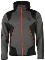 Spyder Mens Sanction Jacket Fleece Winter Chin Guard Hooded Full Zip Top