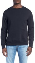 Billy Reid Men's 'Dover' Crewneck Sweatshirt With Leather Elbow Patches