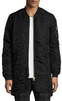 Scotch & Soda Quilted Long Bomber Jacket