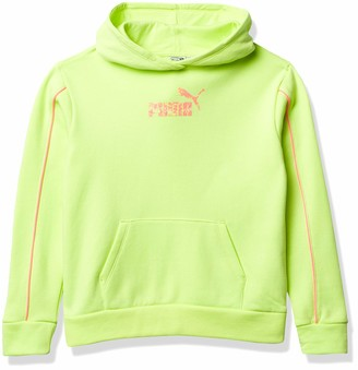 Pullover Hoodie Puma Girls' #1 Logo Fleece Bright Yellow