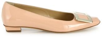 Roger Vivier Belle Vivier Patent Leather Mid-Heel Flats