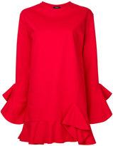 Goen.J - ruffle trim dress - women - Cotton - S