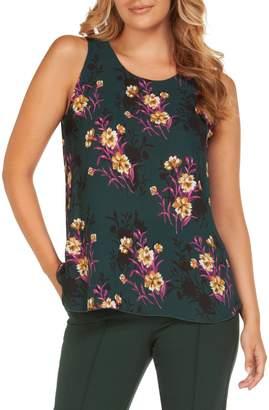 Dex Sleeveless Floral-Print Top